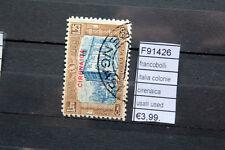 FRANCOBOLLI ITALIA COLONIE CIRENAICA USED USATI (F91426)