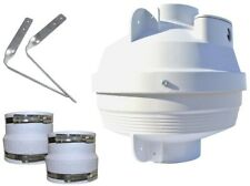 4 in. to 4 in. Radon Mitigation Fan Kit UV Resistant Housing Automatic Thermal