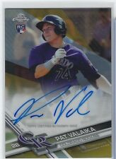2017 Topps Chrome PAT VALAIKA GOLD REF RC AUTO /50 His 1st Autograph! Rockies