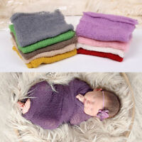 Newborn Baby Infant Soft Mohair Stretch Wrap Cocoon For Photo Photography Props