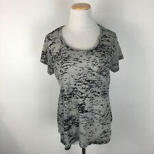 Synergy Organic Clothing Women's Gray Camo Short Sleeve Tee Size Medium