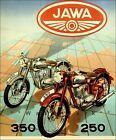 Jawa 350 and 250 Motorcycles 1949 Vintage Poster Print Art Motocross Motorbike