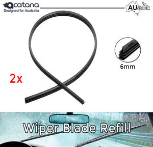 Wiper Blade Refill Pair for Toyota Yaris 2007 2008 2009 2010 2011 - 2016 6mm
