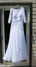 Modest Wedding Dress-Fully Lined, 3/4 Sleeves! Could be Maternity! Ideal Sz: 38D