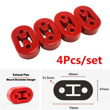 4pcs Polyurethane Car Truck Muffler Exhaust 11.5mm Holes Hangers Red Universal