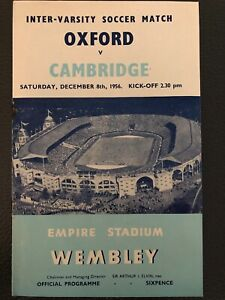 Oxford v Cambridge, (Inter-Varsity Match), 8.12.1956 @ Wembley.