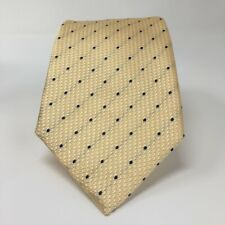 Turnbull & Asser Mens Grenadine Neck Tie Yellow Polka Dot Silk Made in England