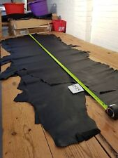 Big Large Black Cow Side Garment Leather 1.2mm Thick Genuine EB83