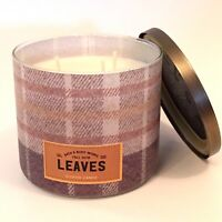 1 BATH & BODY WORKS LEAVES 3-WICK SCENTED LARGE 14.5 OZ FILLED CANDLE LOVE FALL