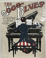 Jogo Blues 1913 W C Handy Art Print Lithograph. Signed And Numbered
