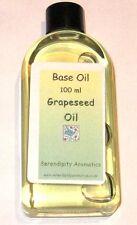 Huile Base Pépin de Raisin Pure Massage Aromatherapie Acne Flacon 100 ml
