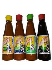 Set of 4: Gourmet Salsa Huichol Hot Sauce, Lime + Habanera Roja + Salsa Negra