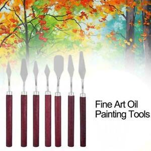 Art Oil Painting Spatula Handle Wood Steel Scraper Hot Palette Sale Gouache J9I5