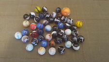 Vintage Estate Marbles, Opaque with Color Swirls, lot of 48 - VG Used Condition