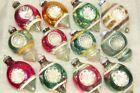Lot Vintage Mercury Glass Double Indent TEARDROP Christmas Ornaments Shiny Brite