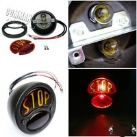 "Motorcycle ""STOP"" Tail Light Brake Lamp Glass Lens For Harley Chopper Bobbers"