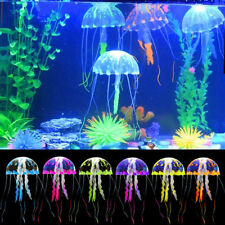 Aquarium Fish Tank Decor Glow Simulation Jellyfish Coral Animal Plant Ornament