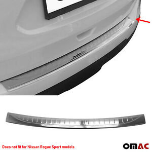 Fits Nissan Rogue 2014-2016 Chrome Rear Bumper Guard Trunk Sill Cover S.Steel