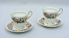 (2) PARAGON - COUNTRY LANE - DEMITASSE CUP & SAUCER SETS - EXCELLENT CONDITION