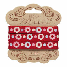 Tilda Candy Bloom, Set of 3 Assorted Ribbons, 2m x 10mm