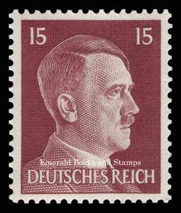 EBS Germany 1941 - Hitler Head - 15 Pfennig - Hitlerkopf - Michel 789 MNH**