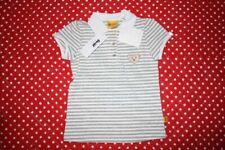 Steiff Ringelpolohemd NEU Gr.110 Teddy-Logo grau-weiß