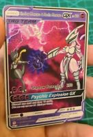 Shadow Mewtwo and Mecha Mewtwo Pokemon GX Tag Team Custom Card In Holo Proxy