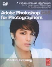 NEW Adobe Photoshop CS5 for Photographers by Martin Evening Paperback Book (Engl