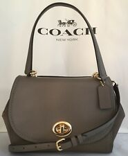 COACH F22348 FAYE MIXED MATERIALS LEATHER SATCHEL CARRYALL IM/FOG NWT