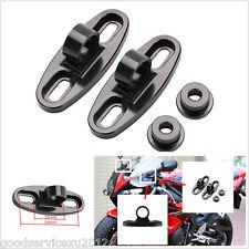 2 X Black CNC Aluminum Motorbike Bicycle Rearview Mirror Fairing Adapters Holder