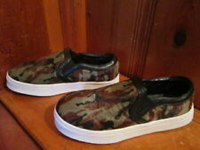 Hot In Hollywood Womens 8.5M Camo Leather Fur Slip On Shoes Sneakers 353582