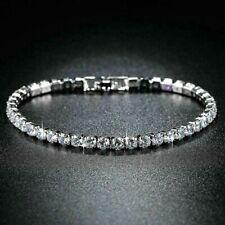 Women's 6.00 Ct Round Cut VVS1 Diamond Tennis Bracelet In 14k White Gold Finish