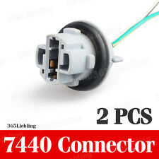2PCS Socket Connector Wire Harness For brake Signal Light Bulb 7440 T20 W21W