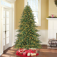 7.5ft Artificial Christmas Tree Pre-Lit 1200 Mini Clear LED Lights Holiday Decor