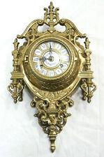 Beautiful Ornate Brass Wall Clock