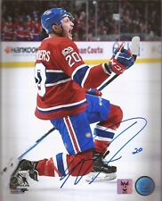 "NICOLAS DESLAURIERS 2018 Autograph Picture 8x10 with COA Montreal Canadiens ""C"""