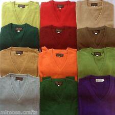 Nepalese Handmade 100% Pashmina Mens V-neck Cashmere Sweater Jumper Cardigan