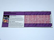 TRANSFORMERS G1  TECH SPECS FILE CARD HEADMASTERS SQUEEZEPLAY 1988 MB NL FR