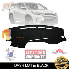 BLACK DASH MAT for TOYOTA Kluger XU50 GX GXL GRANDE 1/2014-2019 DM1350