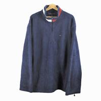 A31 Vintage Tommy Hilfiger Logo Spell Out Fleece Pullover Jacket Quarter Zip XXL
