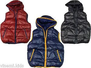 Jungen Stepp-Weste Übergangs-Jacke mit Kapuze Bodywarmer Hoodie 128 140 152 164