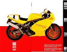 Ducati  Supersport SS 600 - 750 - 900 - 900  Superlight Prospekt  Brochure