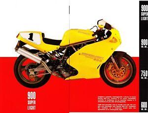 Ducati  Supersport Superlight  SS 600 - 750 - 900 - 900      Prospekt  Brochure