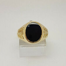 Fabulous 14ct Gold Black Onyx Signet Ring.  Goldmine Jewellers.