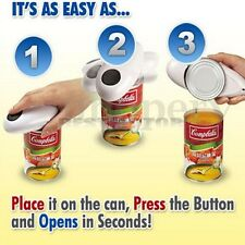One Touch Automatic Electric Can Tin Bottle Opener handsfree Battery Operated