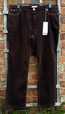 BNWT Marks & Spencer Per Una Roma Chocolate Brown Cord Cotton Jeans (UK 20 Reg)
