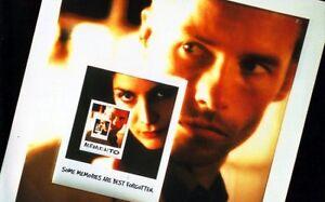 Memento DVD - Hard to find - REGION 4 - Guy Pearce - Directed Christopher Nolan