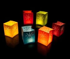 24 x Candle Bags - Small Size - Mixed Colours - Candle Luminary Lanterns