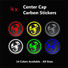 4x Fiat ABARTH Badge Logo Carbon Center Caps Alloy Wheel Hub Stickers All Sizes