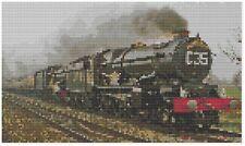 Cornishman Train à Vapeur Point de Croix Kit par Florashell